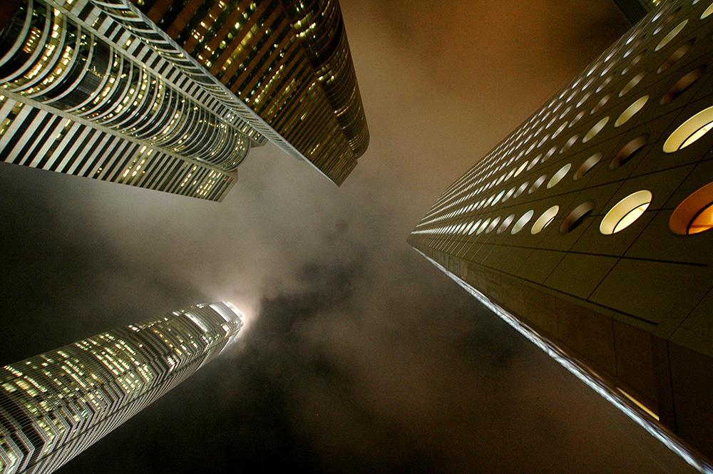 Hong Kong, skyskrapere.