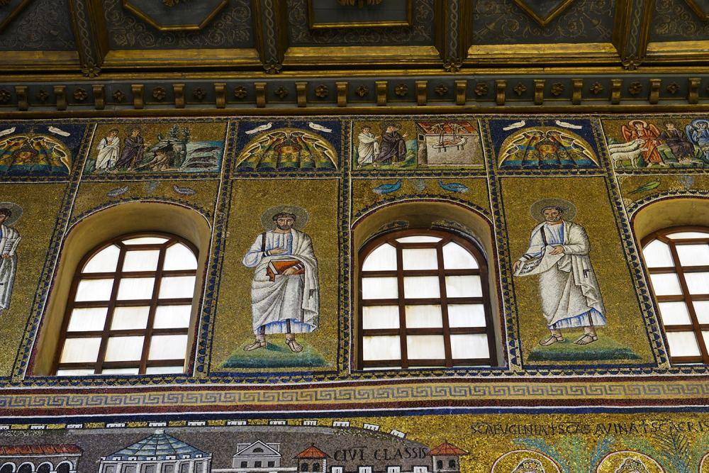 Sant'Apollinare Nuovo, mosaikk, Ravenna, verdensarv