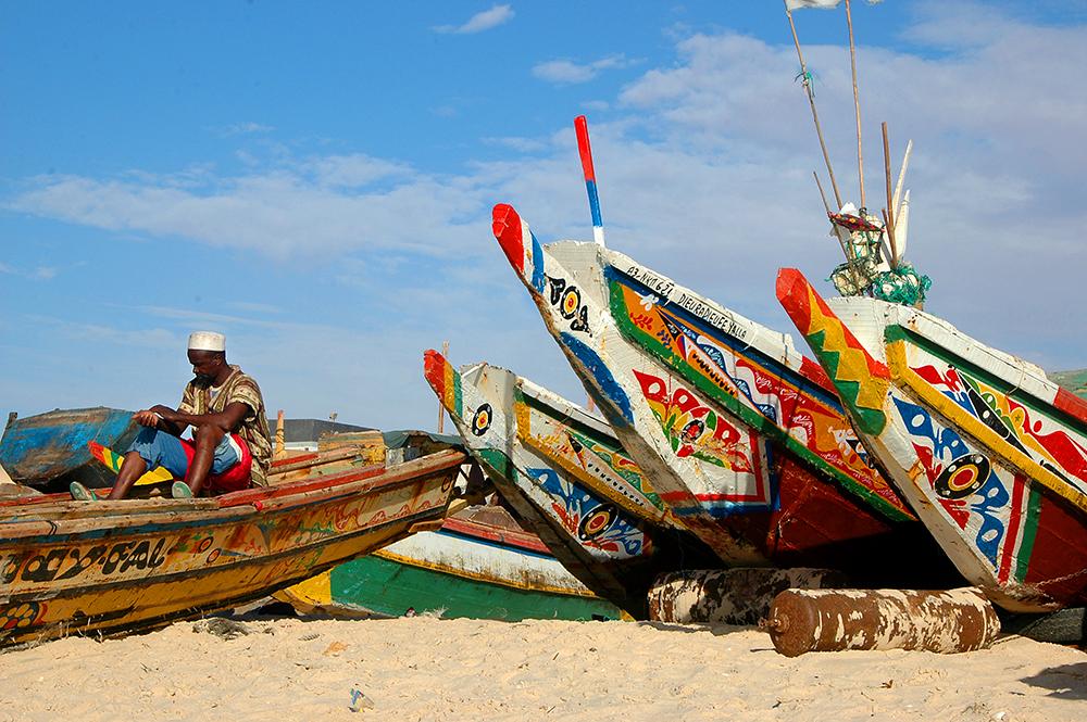 Nouakchott, Mauritania, fiskebåt