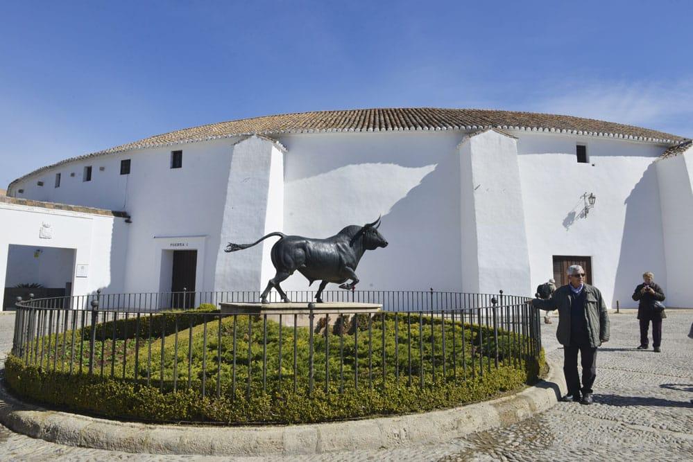 Tyrefekterarena i Ronda i Andalucia, tyrefekting