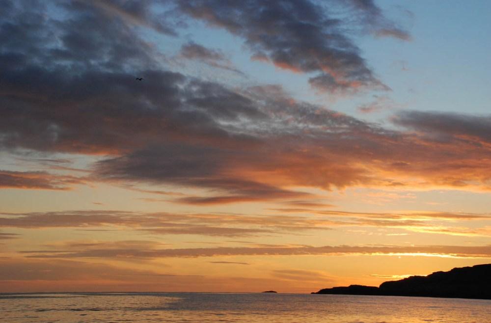 Goltaberget i Sund i solnedgang er vestlandsnatur på sitt fineste