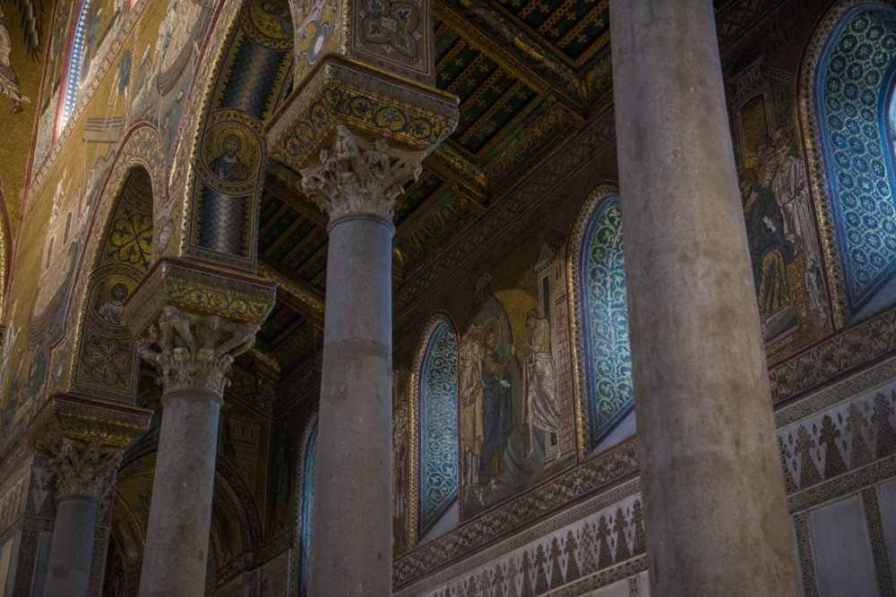 Detalj fra katedralen i Monreale