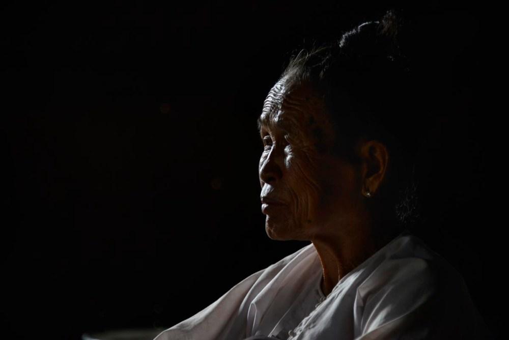 Kvinne i Shan State i Myanmar