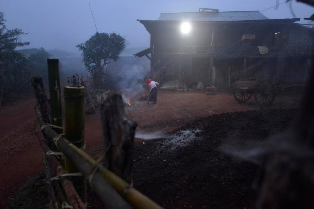 Landsby i Myanmar