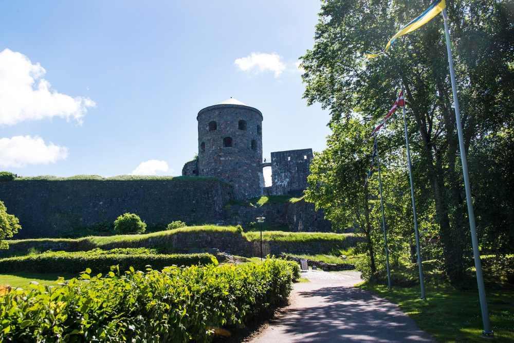 Bohus fästning sett nedenfra
