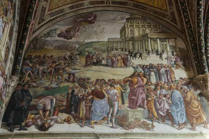Antikrists preken i Capella San Brizio i Orvieto