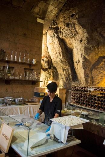Restauranten La Grotte del Funaro i Orvieto