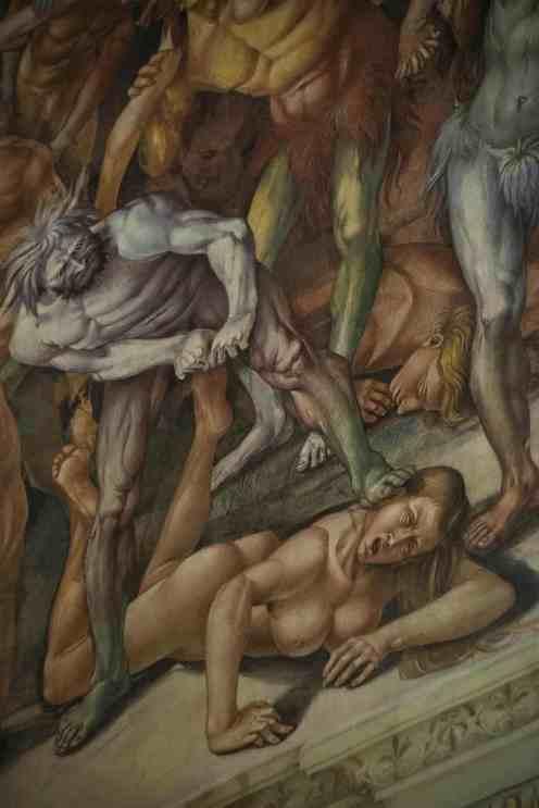 Detalj fra dommedagsfreskene i Orvietos domkirke