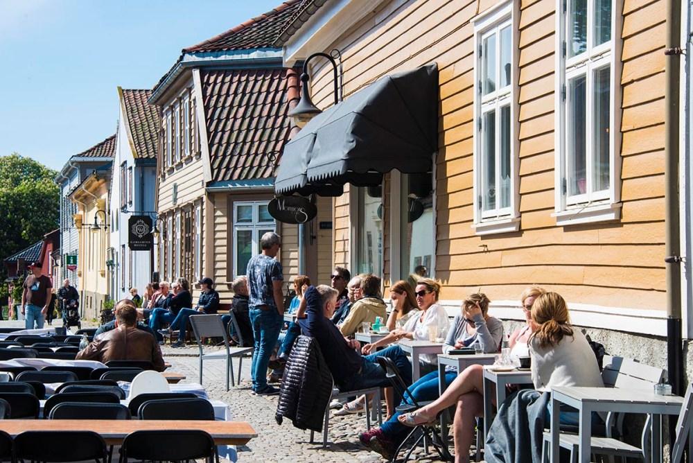 Kafé i Gamlebyen i Fredrikstad