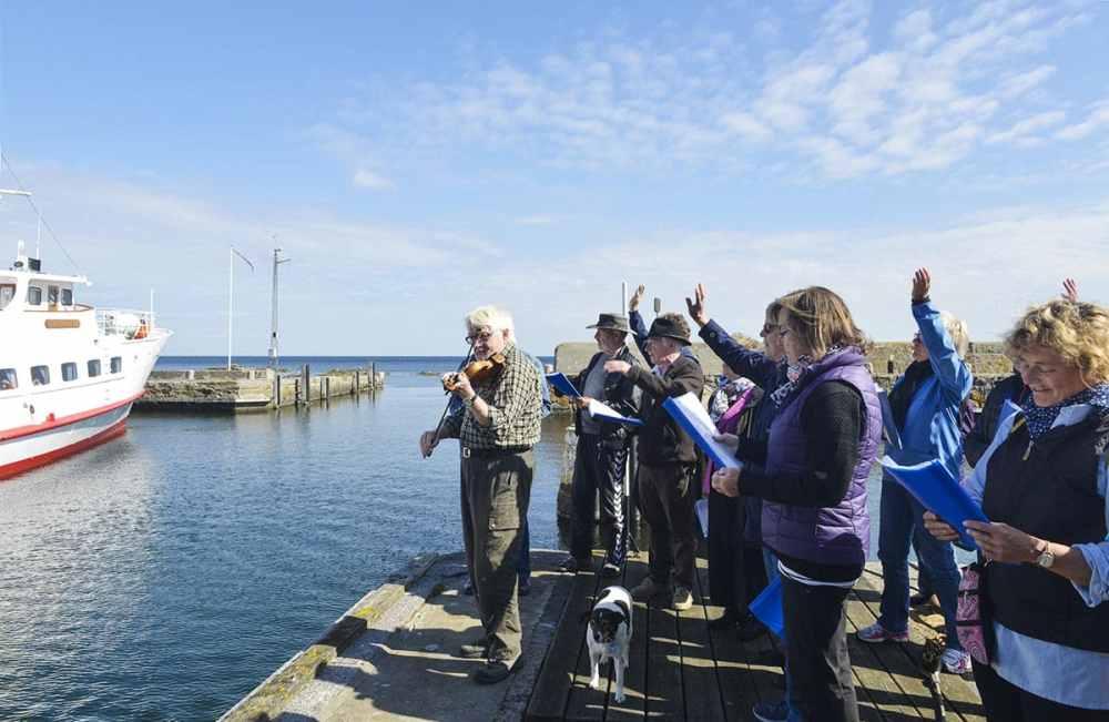 Gudhjem Havnekor på Bornholm i Danmark
