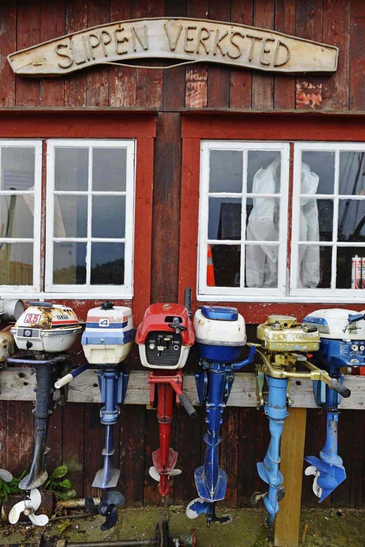 Slippen verksted i Kjerknesvågen kai på Inderøy