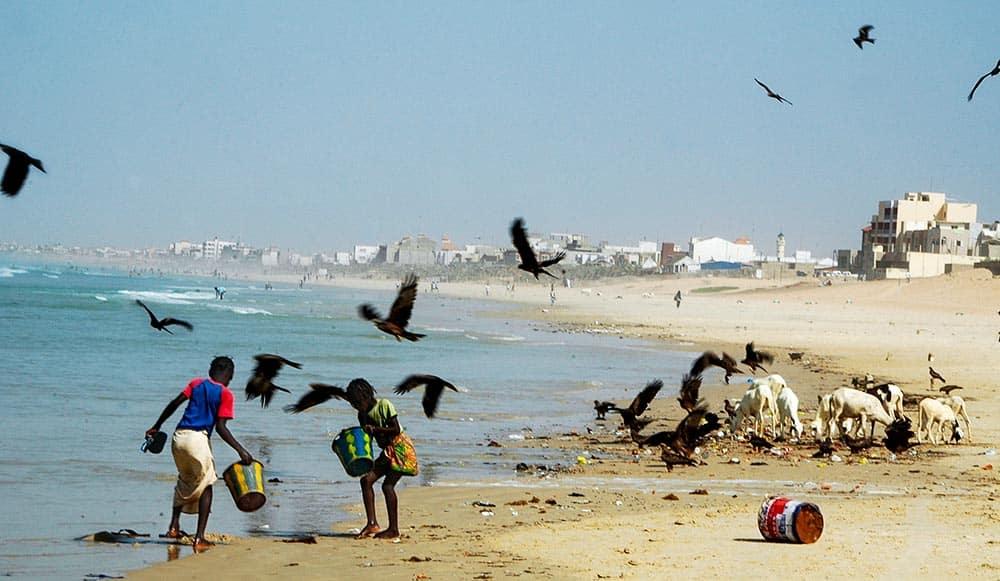 Arbeidsstrand utenfor Dakar