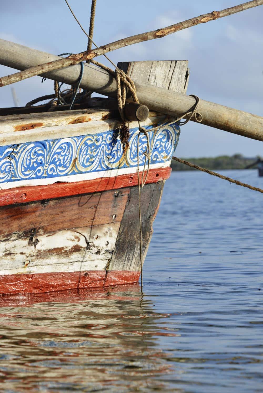 Detalj på en dhow på Lamu i Kenya