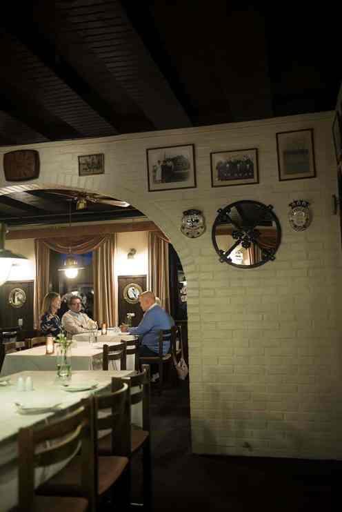 Restauranten i Aalbæk gl. Kro i Danmark.