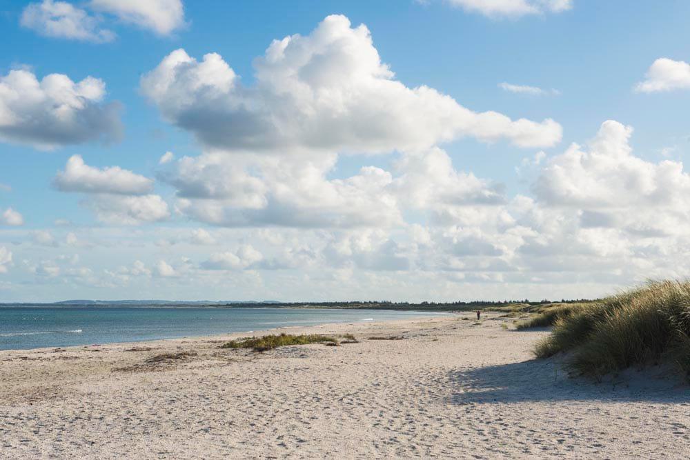 Stranda i Aalbæk i Danmark