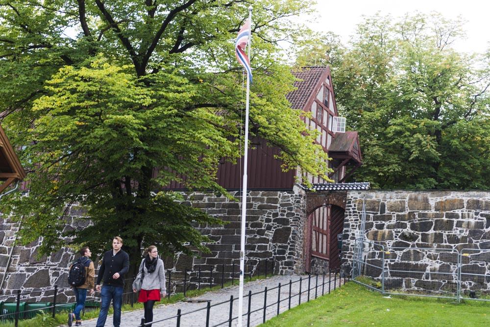 Inngangen til Akershus festning i Oslo