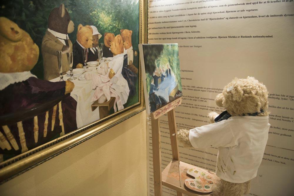 Modell av skagenmaleri i Skagen bamsemuseum