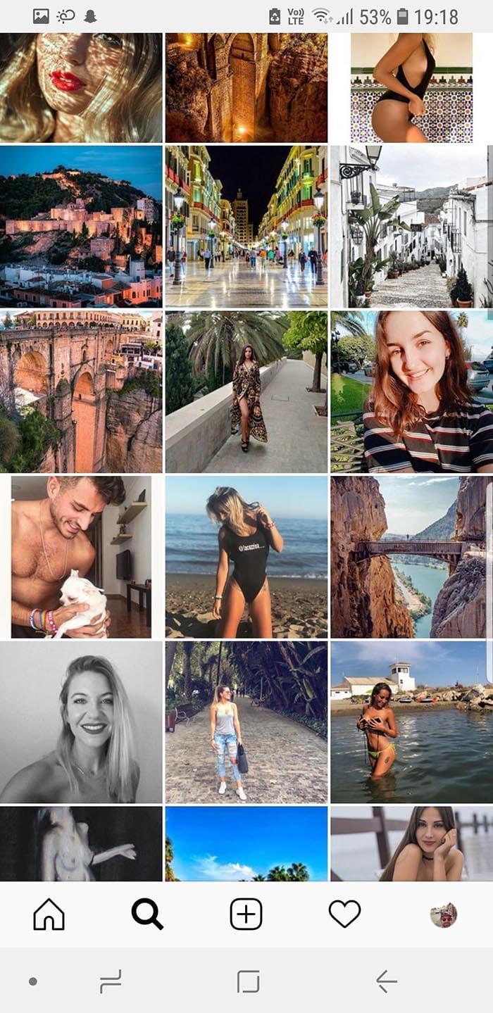 Hashtaggen #Malaga på Instagram