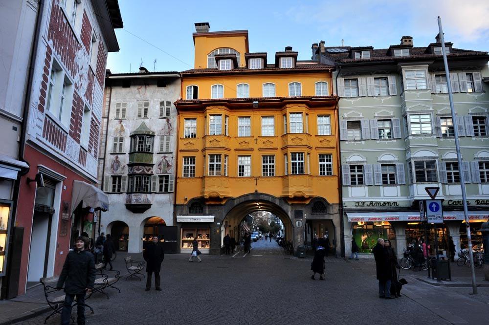 Gamlebyen i Bolzano i Italia
