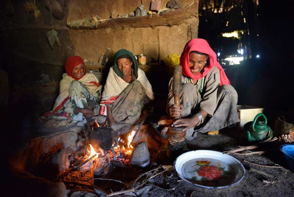Kaffeseremoni i Etiopia