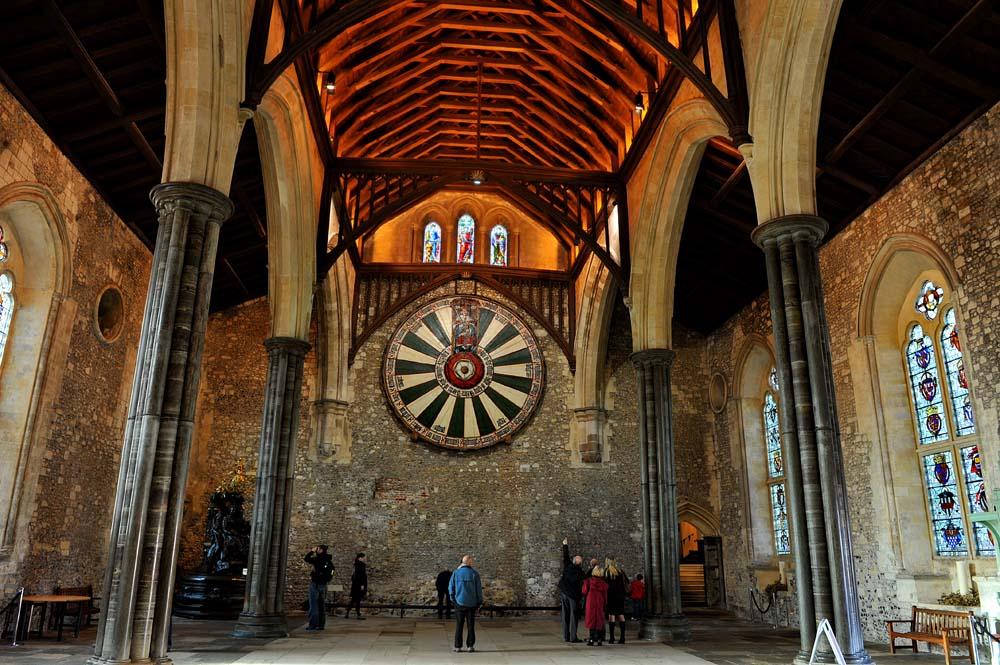 Det runde bordet i The Great Hall i Winchester
