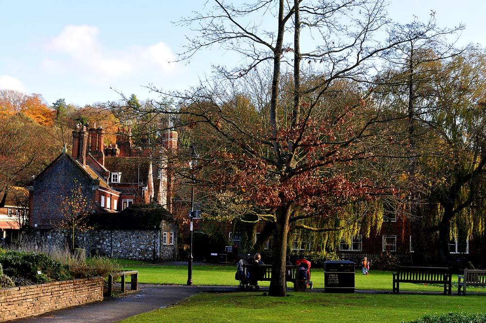 En park i Winchester