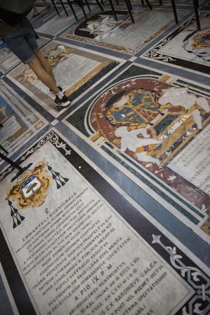 Gulvet i St. Paul's Cathedral i Mdina