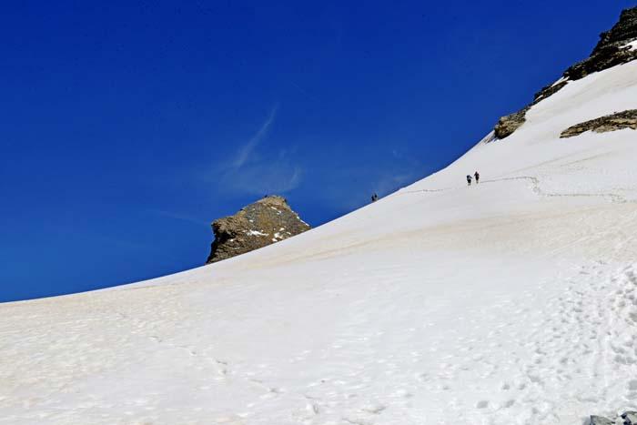 Isbreen under Mettelhorn i Sveits