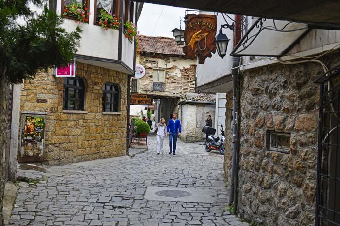 Gate i gamlebyen i Ohrid