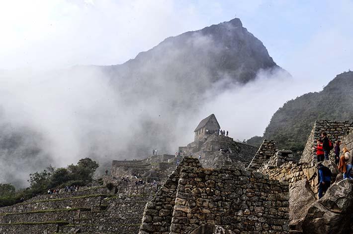 Vakthytta i Machu Picchu