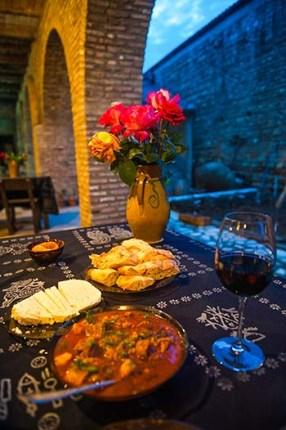 Middag i restauranten Pheasant's Tears