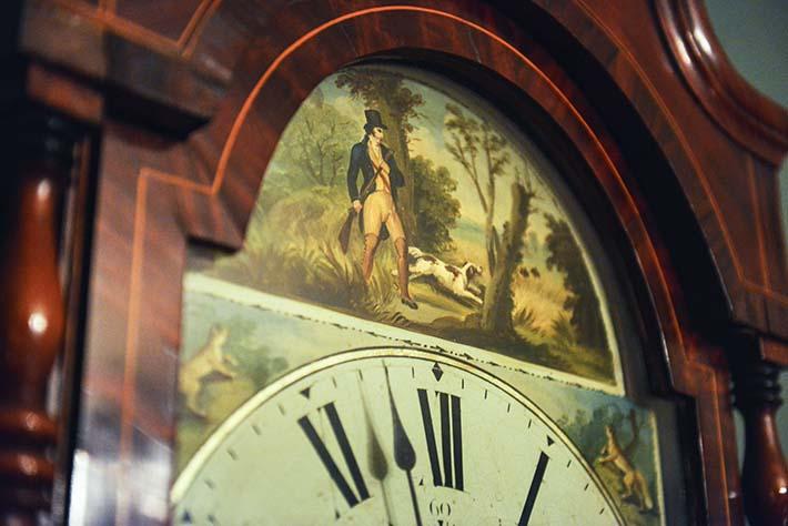 Bilde på gammel klokke