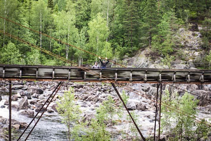 Folk på Tømmerrenna vinker til veterantoget i Vennesla