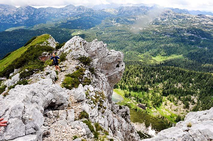 Utsikt over Bohinj fra de juliske alper