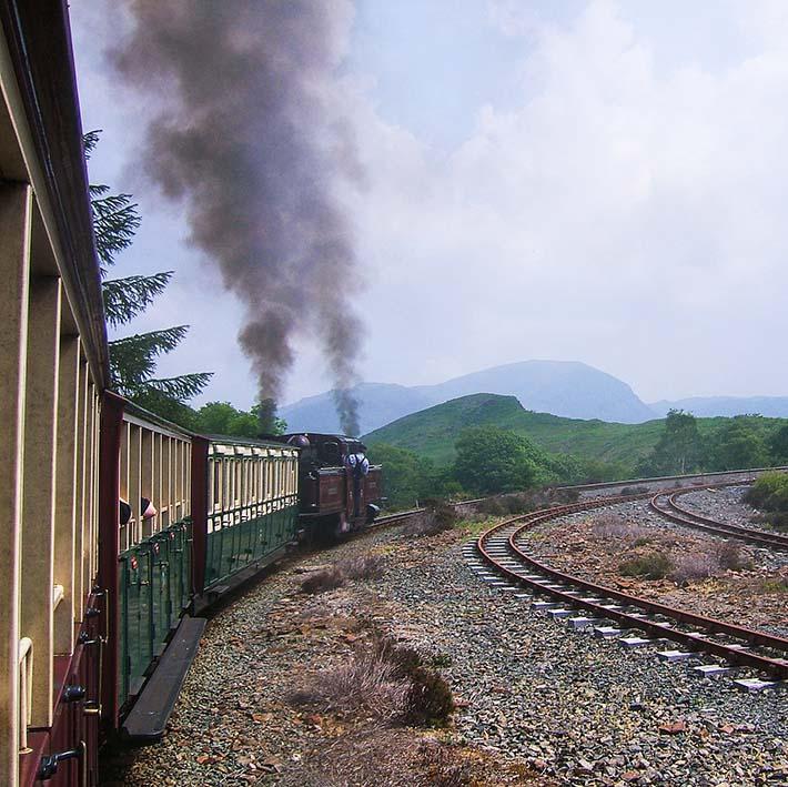 Damptoget Ffestiniog Railway i Wales