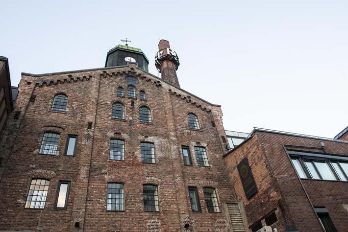 Utsiden av gamle Ringnes Bryggeri