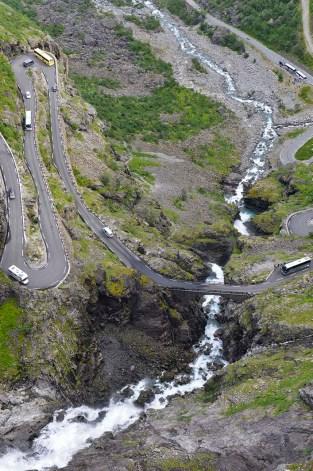 Trafikk i Trollstigen