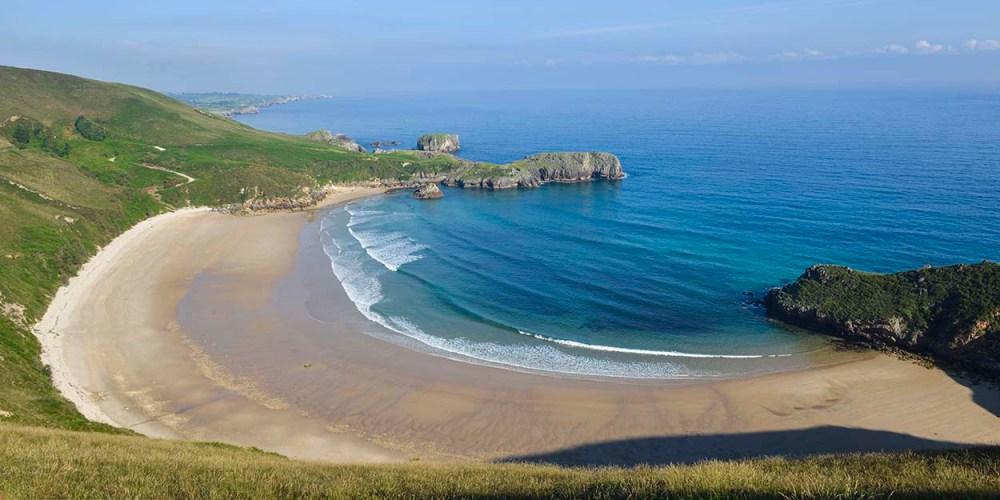 Playa de Torimbia i Asturias