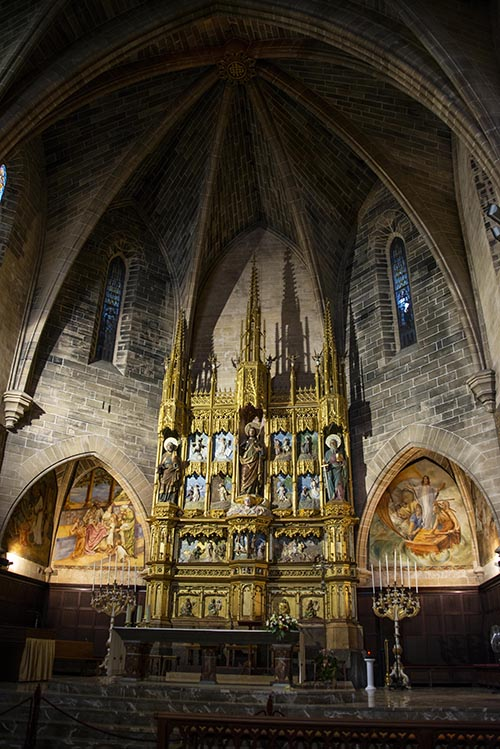 Alteret i kirka i Alcudia