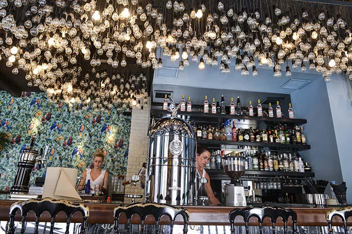 Café Bristol i Korfu
