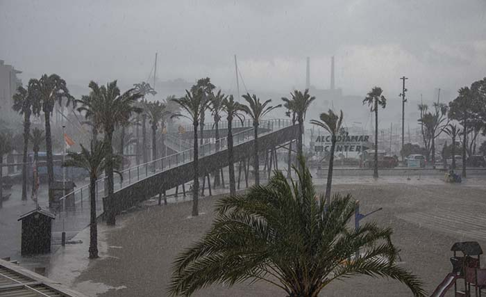 Uværet Dana på Mallorca