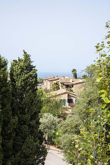 Utsikt mot havet fra Deià