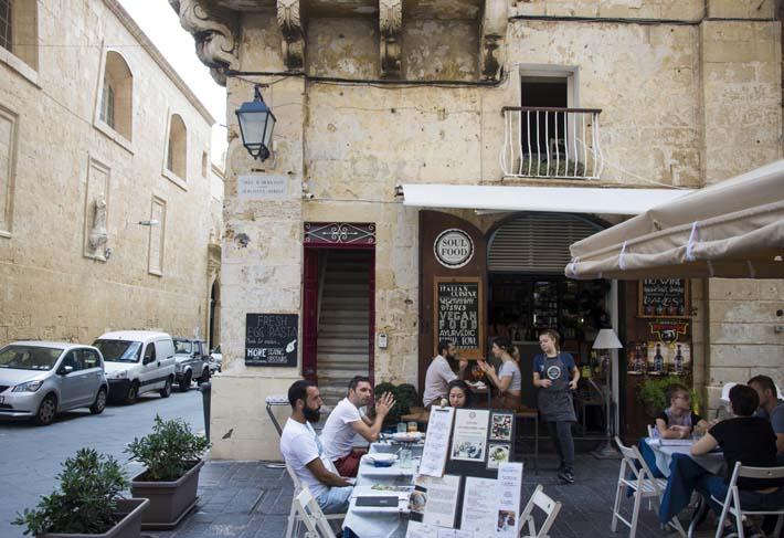 Uterestaurant i Valletta