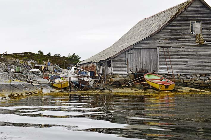 Naustet på Færøyskaget utenfor Glesvær