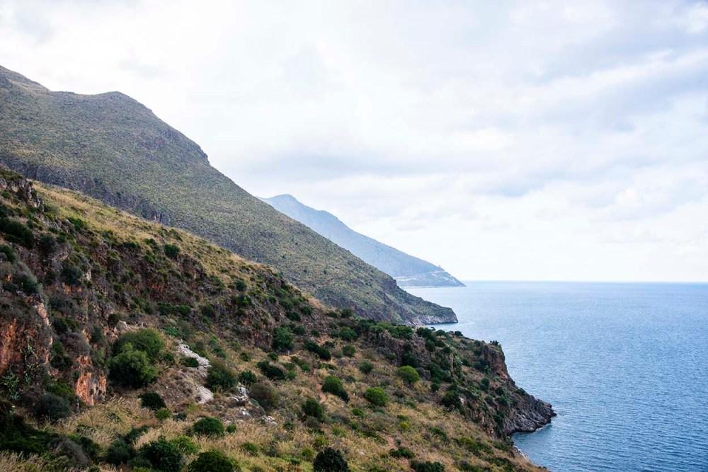 Kysten ved Golfo di Castellammare  på Sicilia