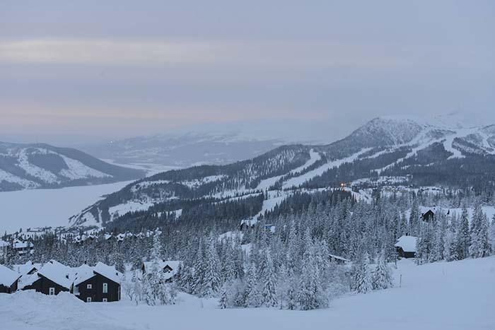 Utsikt fra Copperhill Lodge