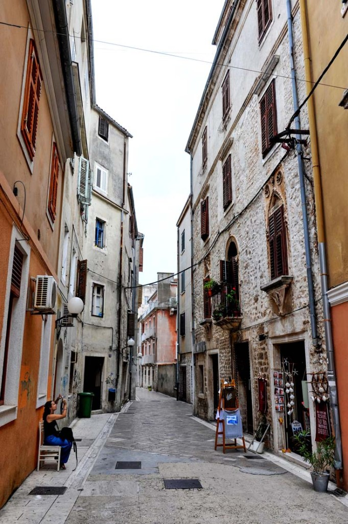 Gate i gamlebyen i Zadar