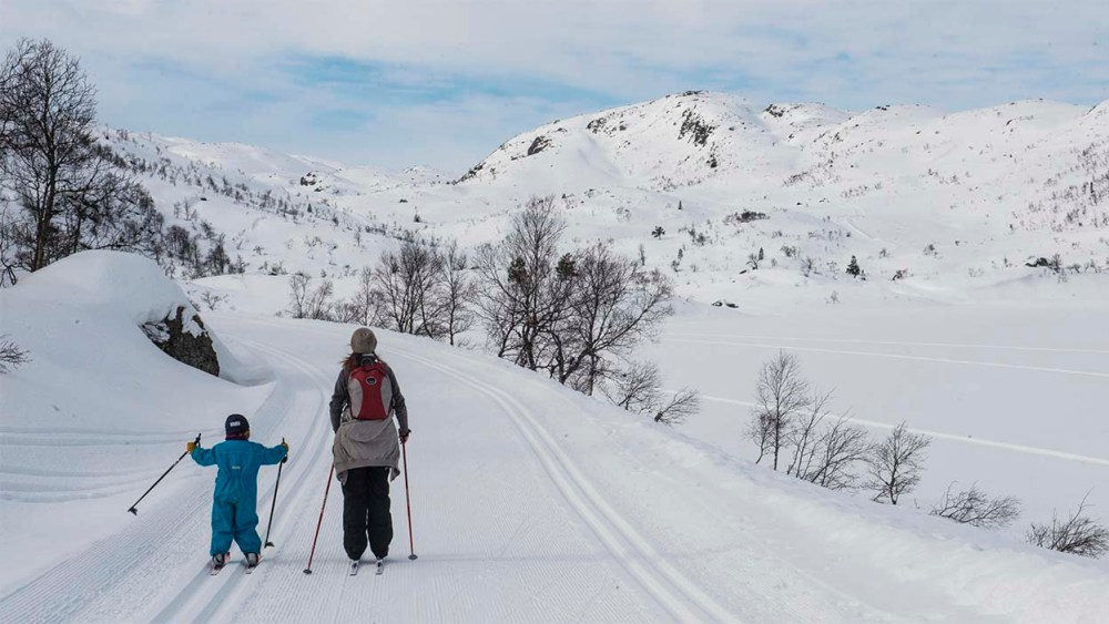 På ski ved Ljosland i Agder