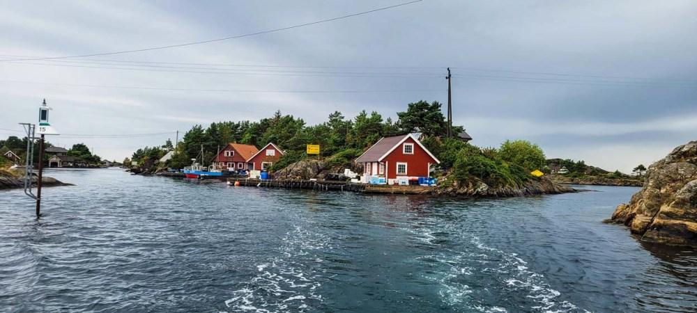 Innseilingen til Borøya i Søgne
