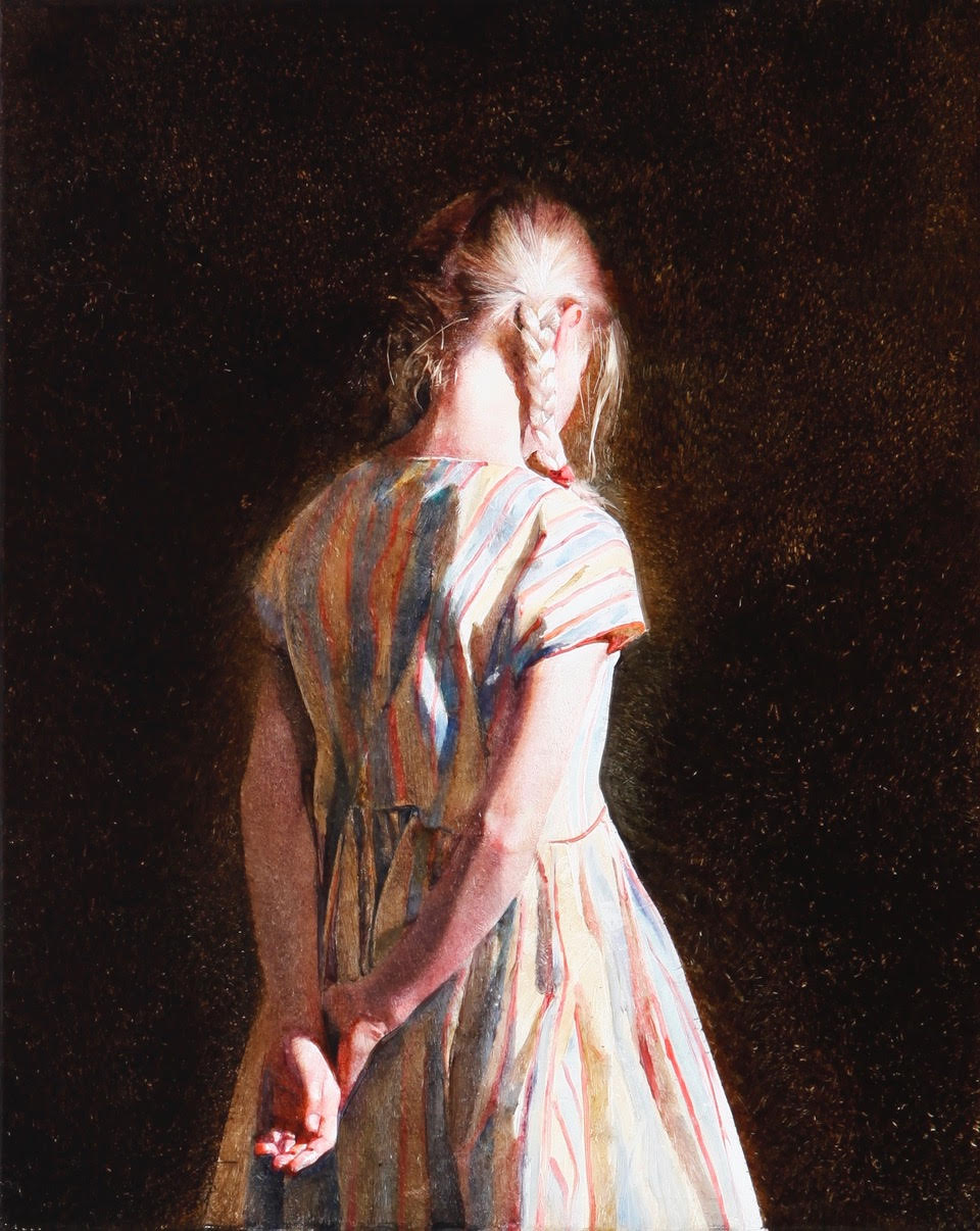Girl with striped dress